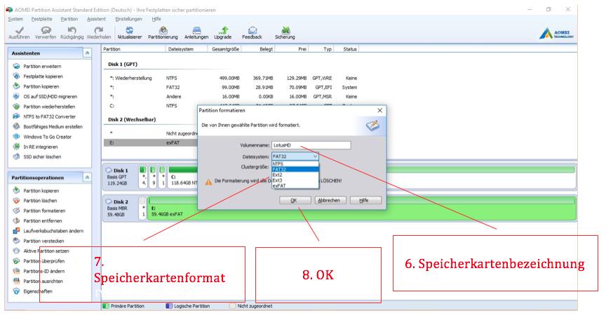 Sd Karte Formatieren Fat32.Anleitung 64gb Speichermedien In Fat32 Formatieren Nanotrix